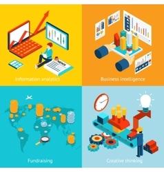 Business intelligence information analytics vector image vector image