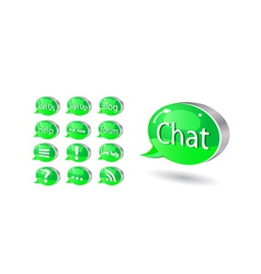 chat forum blog vector image vector image