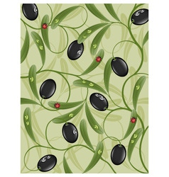 floral background with olive vector image