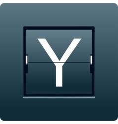 Letter y from mechanical scoreboard vector