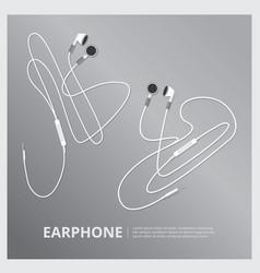 music earphones vector image vector image