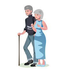 old man and woman isolated vector image