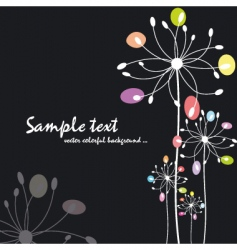 spring summer colorful floral vector image vector image