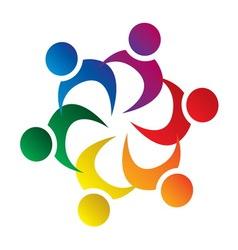 teamwork union people vector image
