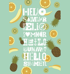 Typographic summer party grunge retro poster vector