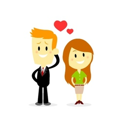 Business Couple vector image vector image