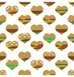 Colorful hearts hamburgers styles simple icons vector