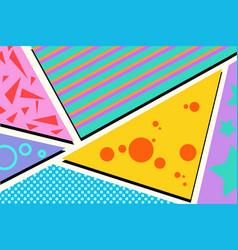 geometric pop art background vector image