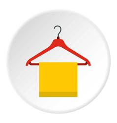 Hanger with cloth icon circle vector