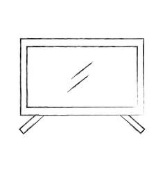 plasma tv isolated icon vector image