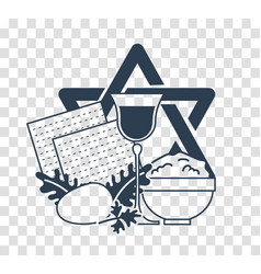 silhouette icon holiday pesach vector image
