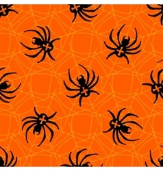 Spiders on Webs seamless pattern vector image vector image