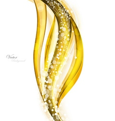 Abstract gold waves - data stream concept vector image