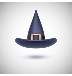 Black witch hat for Halloween vector image vector image