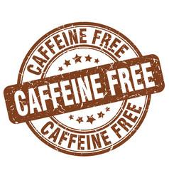Caffeine free brown grunge stamp vector