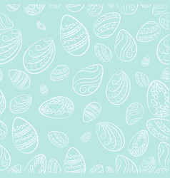 easter eggs blue pattern vector image vector image