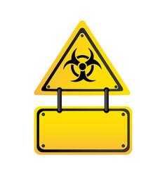 metal biohazard warning notice sign icon vector image