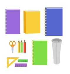 Set of Stationery Office Elements Workplace Tools vector image vector image