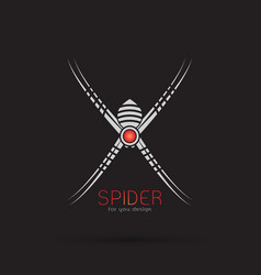 spider design on black background insect animal vector image