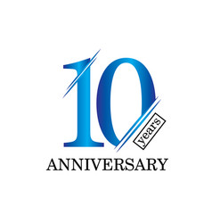 10 year anniversary template design vector image