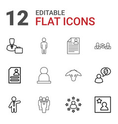 12 profile icons vector image