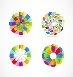 Abstract colors logo icon set element vector image
