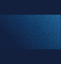 abstract geometric lines on blue background vector image