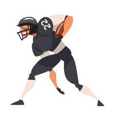 American football player running male athlete vector