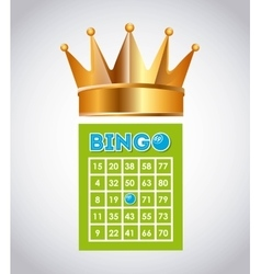 bingo casino game icon vector image