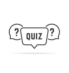 Black simple quiz with speech bubbles vector