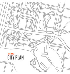 black thin line city map card background vector image