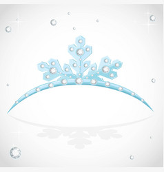 Blue tiara snowflakes shaped for christmas ball vector
