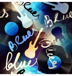 Blues music vector