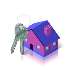 Bunch of keys and house apartment and flat vector
