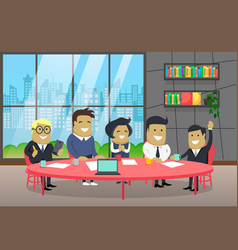 business seminar partners boss and workers vector image