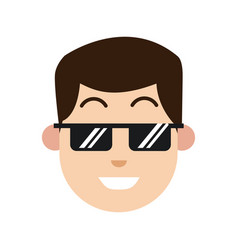 Character man sunglasses smiling image vector
