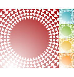 circle with triangle pattern - textured circular vector image