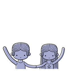 color couple dancing and practice performance vector image