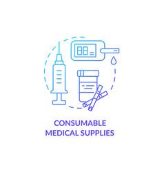 consumable medical supplies concept icon vector image