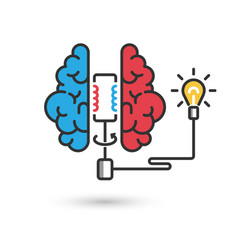 creative brain icon concept for business brain vector image