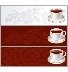 cup coffee background vector image