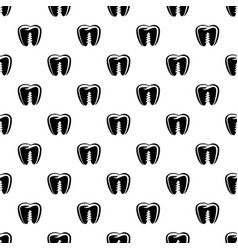 Denture implant icon simple black style vector
