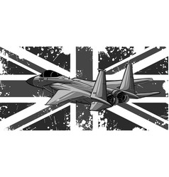 Design military fighter jets with england flag vector