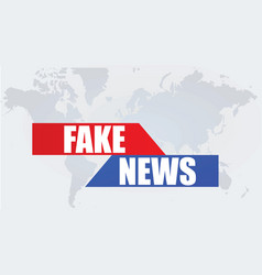 Fake news poster vector