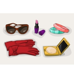 Fashion collection of classic women accessories vector