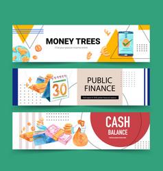 Finance banner design vector