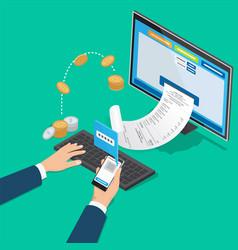 Financial transaction notification mobile bank vector