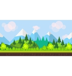 Flat style game background vector image