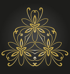 floral abstract pattern vector image
