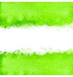green watercolor vector image